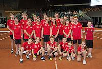 Februari 07, 2015, Apeldoorn, Omnisport, Fed Cup, Netherlands-Slovakia, Arantxa Rus (NED)   Magdaléna Rybáriková (SLO)<br /> Photo: Tennisimages/Henk Koster