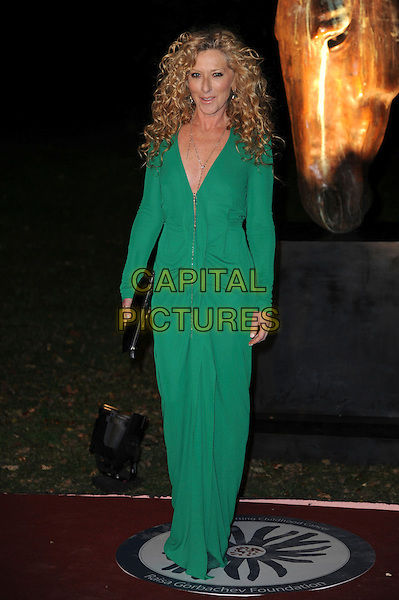 Kelly Hoppen .Raisa Gorbachev Foundation party Stud House, Hampton Court Palace, East Molesey, Surrey, England..22nd September 2011.full length green dress.CAP/CAS.©Bob Cass/Capital Pictures.