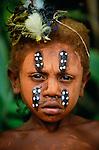 Portrait of East New Britain Island boy, Papua New Guinea