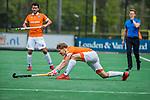 BLOEMENDAAL - Jasper Brinkman (Bldaal)  tijdens de hoofdklasse competitiewedstrijd hockey heren,  Bloemendaal-Den Bosch (2-1).  COPYRIGHT KOEN SUYK