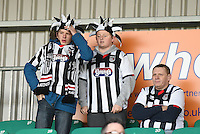 Grimsby Town fans pictured prior to the Vanarama National League match between Eastleigh and Grimsby Town at The Silverlake Stadium, Eastleigh, Hampshire on Nov 21, 2015. (Photo: Paul Paxford/PRiME)