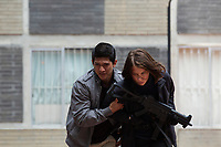 Iko Uwais and Lauren Cohan in Mile 22 (2018)<br /> *Filmstill - Editorial Use Only*<br /> CAP/RFS<br /> Image supplied by Capital Pictures