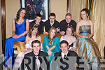 STYLE: Looking Stylish at the Mercy Mounthawk Secondary School Debs in the Abbey Gate Hotel, Tralee on Friday night were seated front l-r: Michael Kelliher and TJ Horgan. Seated centre l-r: Anna Louise-Brunton, Leah Herick, Gillian Lynch, Mary O'Neill and Aisling Carney. Back l-r: Garrett Freeman, Robert O'Neill and Damien McCarthy.   Copyright Kerry's Eye 2008