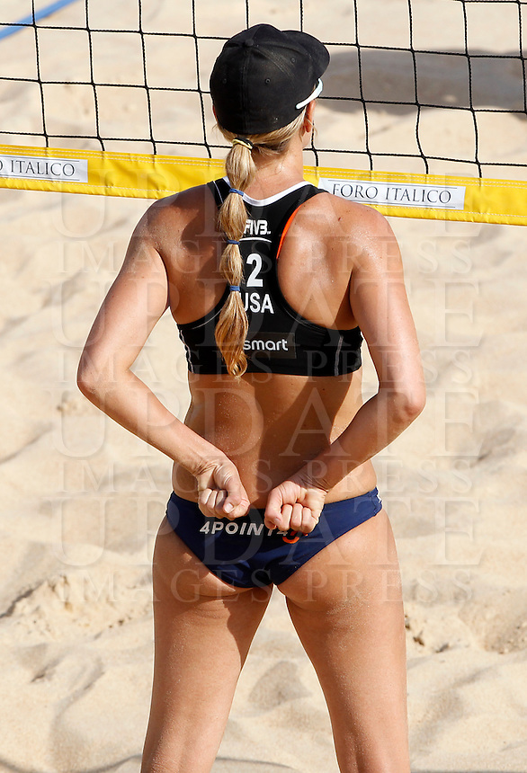 Jennifer Kessy, of the United States, in action at the Beach Volleyball World Tour Grand Slam, Foro Italico, Rome, 21 June 2013.<br /> UPDATE IMAGES PRESS/Isabella Bonotto