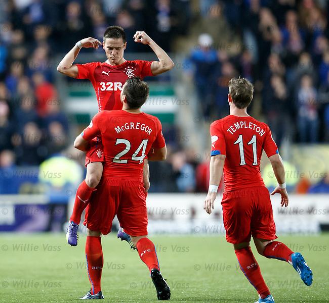 Ian Black celebrates his goal
