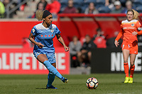 Bridgeview, IL - Saturday May 06, 2017: Samantha Johnson during a regular season National Women's Soccer League (NWSL) match between the Chicago Red Stars and the Houston Dash at Toyota Park. The Red Stars won 2-0.
