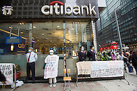 Central. One-man demo against citibank.