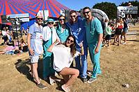 Latitude Festival, Henham Park, Suffolk, UK July 2018. Young people dressed as medics