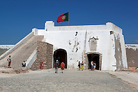 Portugal, Algarve, Sagres: Fortress of Henry the Navigator, the entry gate