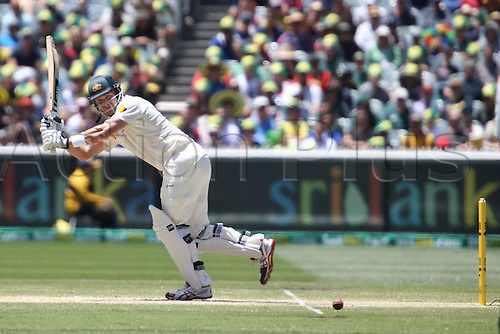 29.12.2013. Melbourne, Australia.  Chris Rogers in batting action during the during day four of the Fourth Ashes Test Match between Australia and England at the MCG - Boxing Day Test Australia versus England, MCG, Melbourne Victoria, Australia.