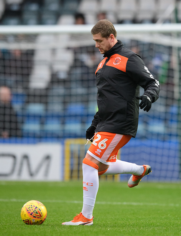 Blackpool's Steven Davies during the pre-match warm-up<br /> <br /> Photographer Chris Vaughan/CameraSport<br /> <br /> The EFL Sky Bet League One - Rochdale v Blackpool - Wednesday 26th December 2018 - Spotland Stadium - Rochdale<br /> <br /> World Copyright © 2018 CameraSport. All rights reserved. 43 Linden Ave. Countesthorpe. Leicester. England. LE8 5PG - Tel: +44 (0) 116 277 4147 - admin@camerasport.com - www.camerasport.com