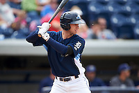 West Michigan Whitecaps third baseman Zach Shepherd (18) at bat during a game against the Cedar Rapids Kernels on June 7, 2015 at Fifth Third Ballpark in Comstock Park, Michigan.  West Michigan defeated Cedar Rapids 6-2.  (Mike Janes/Four Seam Images)