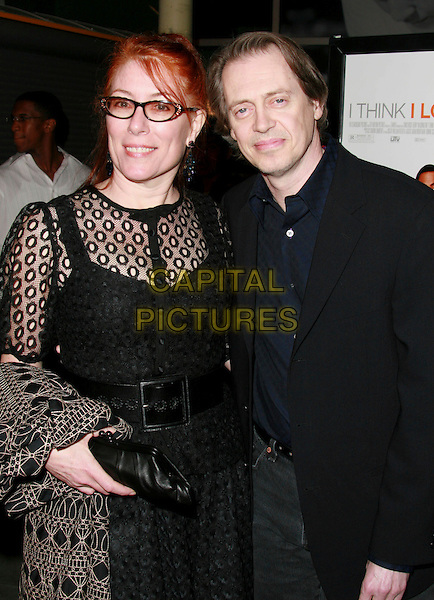 "JO ANDRES & STEVE BUSCEMI .""I Think I Love My Wife"" Los Angeles Premiere held at ArcLight Cinemas, Hollywood, California, USA..March 7th, 2007.half length black shirt top lace glasses.CAP/ADM/CH.©Charles Harris/AdMedia/Capital Pictures"