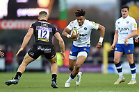Anthony Watson of Bath Rugby in possession. Aviva Premiership match, between Exeter Chiefs and Bath Rugby on December 2, 2017 at Sandy Park in Exeter, England. Photo by: Patrick Khachfe / Onside Images
