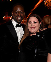 BEVERLY HILLS - JANUARY 7: L-R: Sterling K. Brown and Chrissy Metz attend the 2018 Fox Nominee Party for the 75th Annual Golden Globe Awards at the Fox Terrace on the Roof Deck of the Beverly Hilton on January 7, 2018, in Beverly Hills, California. (Photo by Frank Micelotta/Fox/PictureGroup)