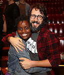 Denee Benton and Josh Groban during the Broadway Opening Night Actors' Equity Gypsy Robe Ceremony honoring Katrina Yaukey  for  'Natasha, Pierre & The Great Comet Of 1812' at The Imperial Theatre on November 14, 2016 in New York City.