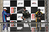 2017 Verizon IndyCar Series<br /> Honda Indy Grand Prix of Alabama<br /> Barber Motorsports Park, Birmingham, AL USA<br /> Sunday 23 April 2017<br /> Josef Newgarden, Team Penske Chevrolet, Scott Dixon, Chip Ganassi Racing Teams Honda, Simon Pagenaud, Team Penske Chevrolet celebrate with champagne on podium<br /> World Copyright: Phillip Abbott<br /> LAT Images<br /> ref: Digital Image abbott_barber_0417_6650