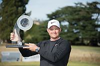 The Bridgestone Challenge 2018 winner Tom Lewis with the trophy during the final round of the  Bridgestone Challenge, Luton Hoo Hotel, Bedfordshire, England. 09/09/2018.<br /> Picture  / Golffile.ie<br /> <br /> All photo usage must carry mandatory copyright credit (&copy; Golffile | )
