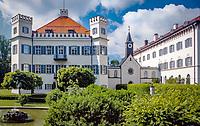 Deutschland, Bayern, Possenhofen am Starnberger See: Schloss | Germany, Bavaria, Possenhofen at Lake Starnberg: castle