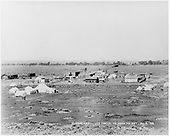 View of early Fort Garland with the D&amp;RG depot at far left.  U.S. Army is camped out here.<br /> D&amp;RG  Ft. Garland, CO  Taken by Davis, O. T. - 8/6/1908