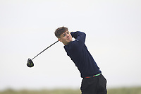 Ryan McNelis (Fintona) on the 9th tee during Round 1 of The East of Ireland Amateur Open Championship in Co. Louth Golf Club, Baltray on Saturday 1st June 2019.<br /> <br /> Picture:  Thos Caffrey / www.golffile.ie<br /> <br /> All photos usage must carry mandatory copyright credit (© Golffile | Thos Caffrey)