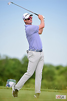 Justin Rose (GBR) watches his tee shot on 13 during Friday's round 2 of the 117th U.S. Open, at Erin Hills, Erin, Wisconsin. 6/16/2017.<br /> Picture: Golffile   Ken Murray<br /> <br /> <br /> All photo usage must carry mandatory copyright credit (&copy; Golffile   Ken Murray)