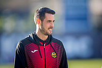 8th February 2020; Dens Park, Dundee, Scotland; Scottish Championship Football, Dundee versus Partick Thistle; Brian Graham of Partick Thistle inspects the pitch before the match
