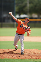 Baltimore Orioles pitcher Josh Keaton (68) delivers a pitch during an Instructional League game against the New York Yankees on September 23, 2017 at the Yankees Minor League Complex in Tampa, Florida.  (Mike Janes/Four Seam Images)