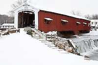 63904-03316 Bridgeton Covered Bridge in winter at Bridgeton, IN
