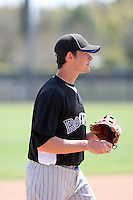 Ryan Peisel, Colorado Rockies 2010 minor league spring training..Photo by:  Bill Mitchell/Four Seam Images.