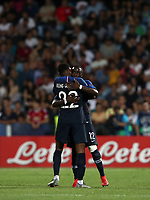 Football: Uefa under 21 Championship 2019, England - France, Dino Manuzzi stadium Cesena Italy on June18, 2019.<br /> France's Jonathan Ikoné (r) celebrates after scoring with his teammate Jeff Reine -Adélaide (l) during the Uefa under 21 Championship 2019 football match between England and France at Dino Manuzzi stadium in Cesena, Italy on June18, 2019.<br /> UPDATE IMAGES PRESS/Isabella Bonotto