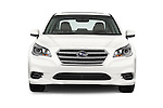 Car photography straight front view of a 2017 Subaru Legacy 2.5I Premium 4 Door Sedan 2WD Front View