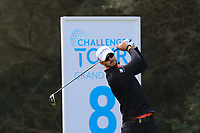 Benjamin Poke (DEN) on the 8th tee during Round 2 of the Challenge Tour Grand Final 2019 at Club de Golf Alcanada, Port d'Alcúdia, Mallorca, Spain on Friday 8th November 2019.<br /> Picture:  Thos Caffrey / Golffile<br /> <br /> All photo usage must carry mandatory copyright credit (© Golffile | Thos Caffrey)
