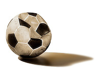 Deflated soccer ball.