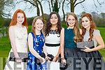 Holly Clifford, Edel O'Brien, Katie Joy, Cora Coffey and Juliet Murphy at the Beaufort Youth club ball in Beaufort Golf club on Wednesday evening