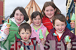 Green ice-cream: Daire, Eoin, Aoife, Ciara and Aisling O'Shea, Athea taking .time out from the Listowel St Patrick's Day parade on Sunday for some .festive green ice-cream cones..   Copyright Kerry's Eye 2008