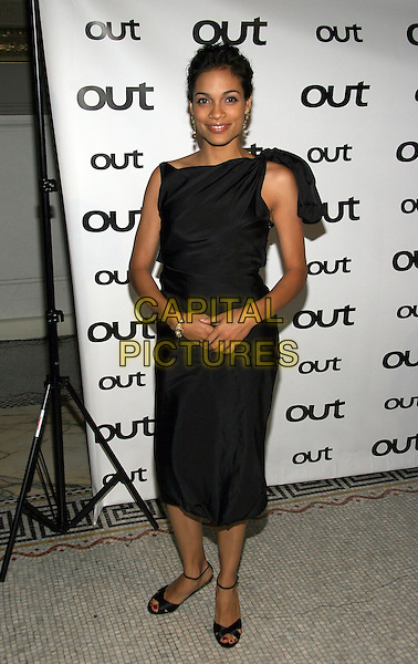 ROSARIO DAWSON.The 11th annual OUT100 Awards Celebration at Capitale, New York, NY..November 11th, 2005.Photo: Jackson Lee/Admedia/Capital Pictures.Ref: JL/ADM.full length black sleeveless dress.www.capitalpictures.com.sales@capitalpictures.com.© Capital Pictures.