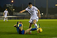 23rd November 2019; Caledonian Stadium, Inverness, Scotland; Scottish Championship Football, Inverness Caledonian Thistle versus Dundee Football Club; Graham Dorrans of Dundee challenges for the ball with David Carson of Inverness Caledonian Thistle  - Editorial Use