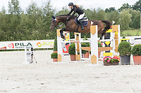 Horse jumping competition at Czech Equestrian Masters on September 7th. 2017. Female rider