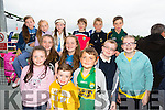 Front l-r  Onagh O'Leary, Ryan O'Leary and Luke Henderson.Middle l-r Allanah O'Leary, Eileen O'Leary, Simon O'Leary and Jessica O'leary.Back l-r Katie Fitzgerald, Laura Fitzgerald, Amy Fitzgerald, Grainne Costello, Kian Costello and Cormac Costello all from Knockaderry NS Farranfore.  at the Kerry GAA Night at Dogs Race of Champions at the Kingdom Greyhound Stadium on Friday