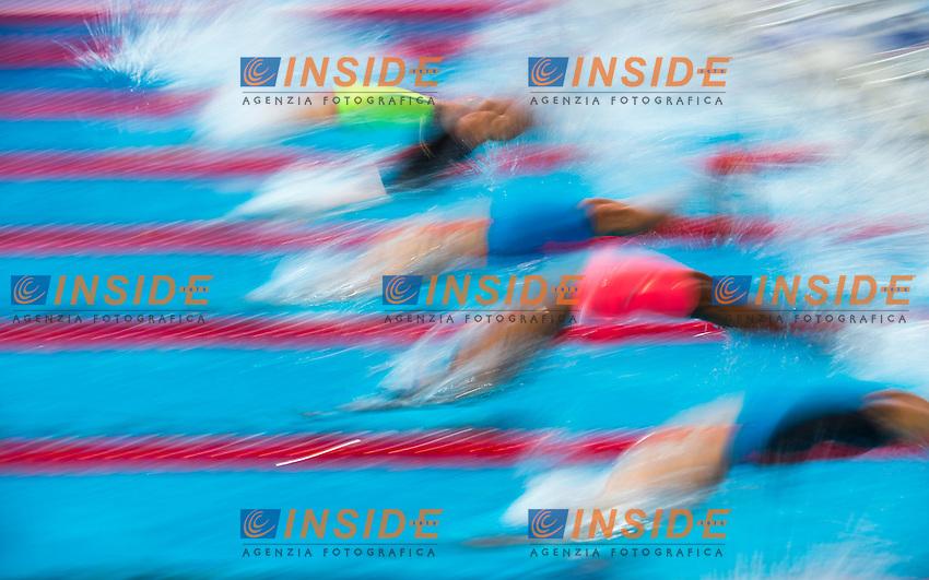 The start<br /> Swimming - Men's  200m backstroke heats<br /> Day 14 06/08/2015<br /> XVI FINA World Championships Aquatics Swimming<br /> Kazan Tatarstan RUS July 24 - Aug. 9 2015 <br /> Photo Giorgio Perottino/Deepbluemedia/Insidefoto