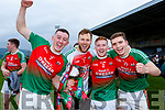 Kilcummin's Sean O'Leary, Brendan Kealy, Philip Casey and Matt Keane celebrate after winning the Munster Intermediate Championship in Mallow on Sunday