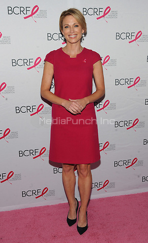 New York, NY- October 9: Amy Robach attends the 2014 Breast Cancer Research Foundation awards luncheon honoring Barbara Walters  at the Waldorf-Astoria on October 9, 2014 in New York City. Credit: John Palmer/MediaPunch