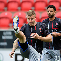 Lincoln City's Michael O'Connor during the pre-match warm-up<br /> <br /> Photographer Chris Vaughan/CameraSport<br /> <br /> The EFL Sky Bet Championship - Rotherham United v Lincoln City - Saturday 10th August 2019 - New York Stadium - Rotherham<br /> <br /> World Copyright © 2019 CameraSport. All rights reserved. 43 Linden Ave. Countesthorpe. Leicester. England. LE8 5PG - Tel: +44 (0) 116 277 4147 - admin@camerasport.com - www.camerasport.com