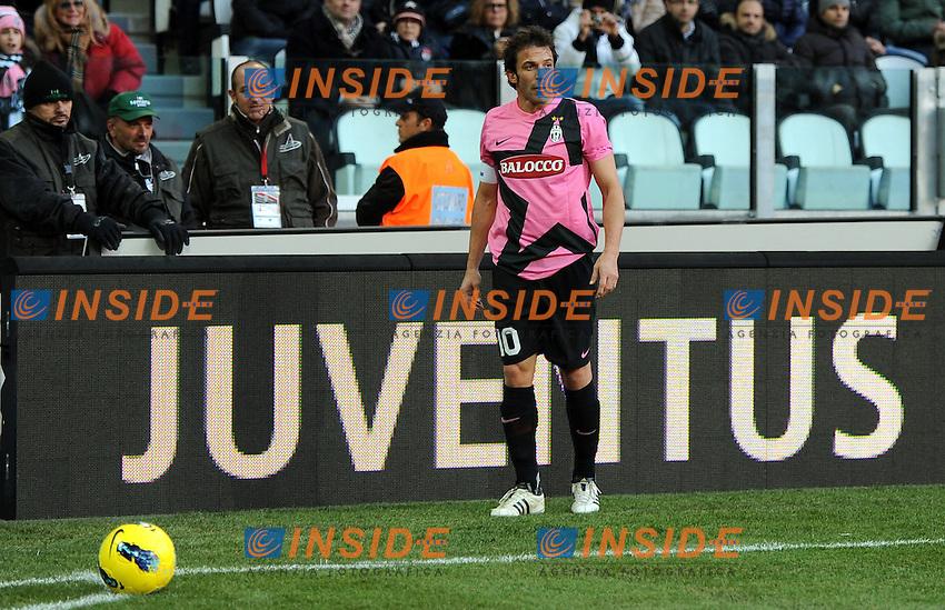 """Alessandro DEL PIERO (Juventus).Torino 18/12/2011 Stadio """"Juventus Stadium"""".Serie A 2011/2012.Football Calcio Juventus Vs Novara.Foto Insidefoto Alessandro Sabattini."""