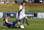 04 November 2009: Florida State's Amanda DaCosta (13) and Duke's Jane Alukonis (5). The Florida State University Seminoles defeated the Duke University Blue Devils 2-0 at Koka Booth Stadium in WakeMed Soccer Park in Cary, North Carolina in an Atlantic Coast Conference Women's Soccer Tournament Quarterfinal game.
