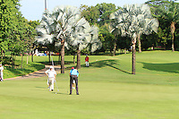Michael Hoey (NIR) on the 11th green during Round 3 of the Maybank Malaysian Open at the Kuala Lumpur Golf & Country Club on Saturday 7th February 2015.<br /> Picture:  Thos Caffrey / www.golffile.ie