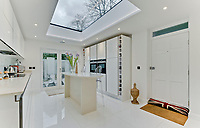 BNPS.co.uk (01202 558833)<br /> Pic: Jackson-Stops/BNPS<br /> <br /> Kitchen. <br /> <br /> A historic tower home that has hosted royalty, politicians and rock stars has become available to rent for almost £6,000 a month.<br /> <br /> Ruxley Tower was originally built by The Rt Hon Lord Thomas Foley in 1870 for his wife Evelyne.  Queen Victoria is said to have once taken tea in the drawing room.<br /> <br /> In 2009 the quirky property was rented out to Rolling Stones guitarist Ronnie Wood for two years after his split from wife Jo. The 80ft tower is available to rent through agents Jackson-Stops.