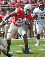 "September 27, 2008: Ohio State running back Chris ""Beanie"" Wells (28). The Ohio State Buckeyes defeated the Minnesota Gophers 34-21 on September 27, 2008 at Ohio Stadium, Columbus, Ohio."