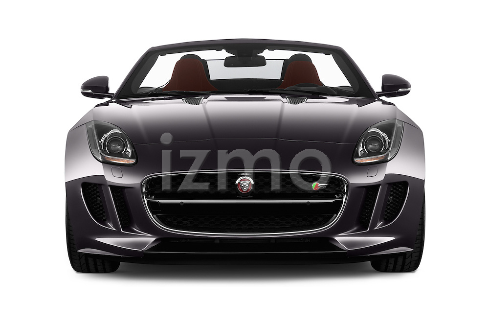 Car photography straight front view of a 2016 Jaguar F Type S 2 Door Convertible Front View